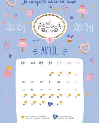 🌙 Je m'épile avec la lune 🌙   Voici le calendrier lunaire pour vos épilations du mois d'Avril 2021   Selon les croyances de chacune, voici quelques avantages :   - Repousse ralentie - Poils plus fins - Poils moins piquants à la repousse - Une épilation parfaite plus longue 😊😊