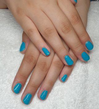 Ce joli Vert/Bleu Émeraude, magnifique 🥰 Pose de vernis semi-permanent 💅